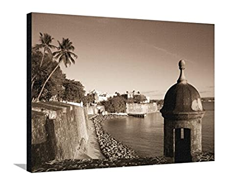 San Juan, Old Town, Paseo Del Morro and La Muralla, Puerto Rico Stretched Canvas Print by Michele Falzone - 40 x 30 - Puerto Rico Kitchen