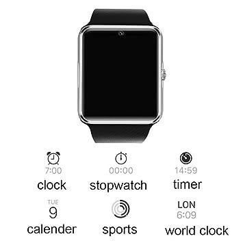 GT08 Reloj inteligente con función de cámara pulsera Bluetooth Hombre Mujer reloj de pulsera