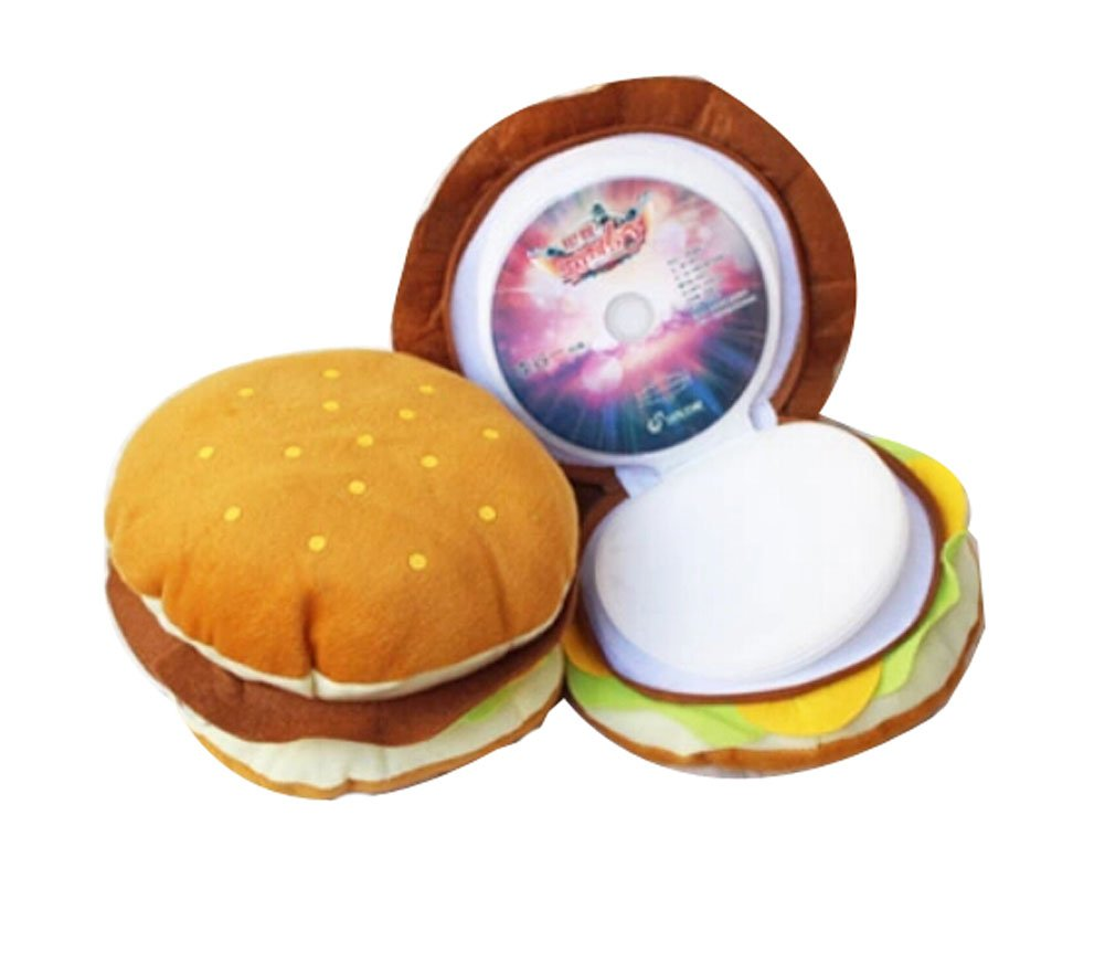 Cute And Textured CD Storage Box CD Holder/Package-Hamburger