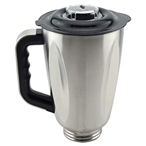 6-Cup Stainless Steel Jar with Handle and Lid for Oster Osterizer Blenders Replacement Part 304