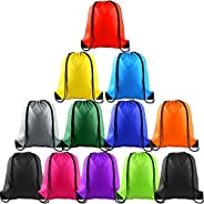 TEUN 12 Pack Drawstring Backpack Bags String Backpack Bulk Tote Sack Cinch Bag Sport Bags for School Gym Trave