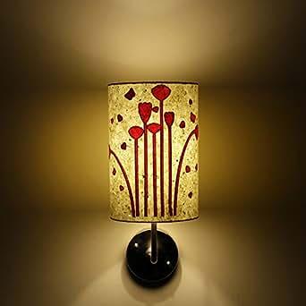 Diseño de flores de caza Craftter blanco y rosa lámpara pantalla para lámpara de papel para la pared