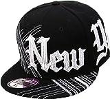 new york hats for men - KBF-251 BLK-WHT L New York NY Fitted Baseball Cap Hat