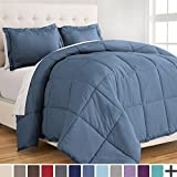 Alternative Comforter - Ultra-Soft Premium 1800 Series Goose Down Alternative Comforter Set - Hypoallergenic - All Season - Plush Fiberfill, Twin Extra Long (Twin XL, Coronet Blue)