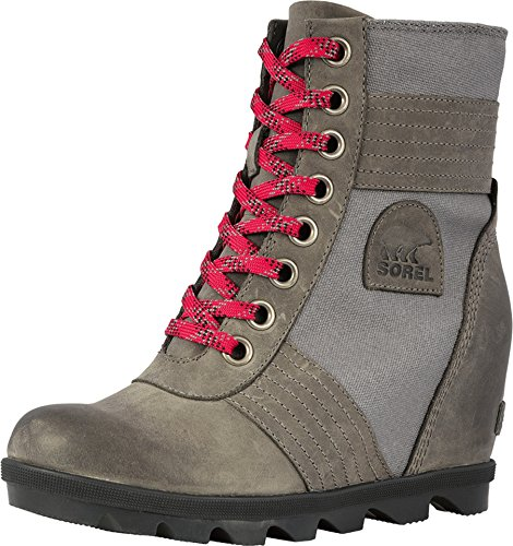 Sorel Womens Lexie Wedge Rain Boot, Quarry, Size 6