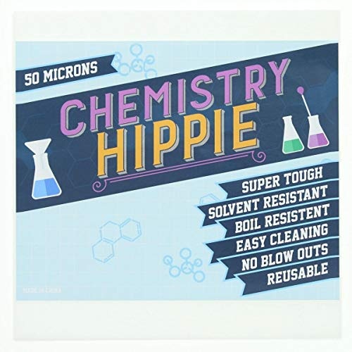 Chemistry Hippie | 50 Micron Pressing Screens 6-pack | Essential Oil Concentrate Press Filter | Ultra Strong 5x5 Inch Sheets | Also Available in 25, 100, and 150 Micron Screens