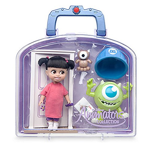 Official Disney Monsters Inc Animators Collection Boo Mini Doll Playset (Monsters Inc Boo Doll)