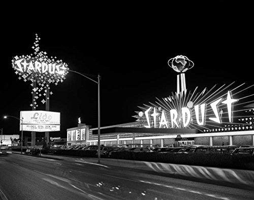 1960s Night Scene of The Stardust Casino Las Vegas by Vintage PI Art Print, 20 x 16 inches ()