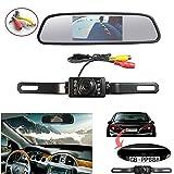 Waterproof Backup Camera and Monitor kit, 4.3inch Car Tft-lcd Mirror Monitor +7 LED Night Vision rear view Camera Parking Reverse System Assembly (4.3 inch mirror)