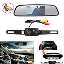 Waterproof Backup Camera and Monitor kit, 4.3inch Car Tft-lcd Mirror Monitor +7 LED Night Vision rear view Camera Parking Reverse System Assembly (4.3 inch mirror)