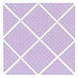 Sweet Jojo Designs Purple Polka Dot Fabric Memory/Memo Photo Bulletin Board for Mod Dots Collection