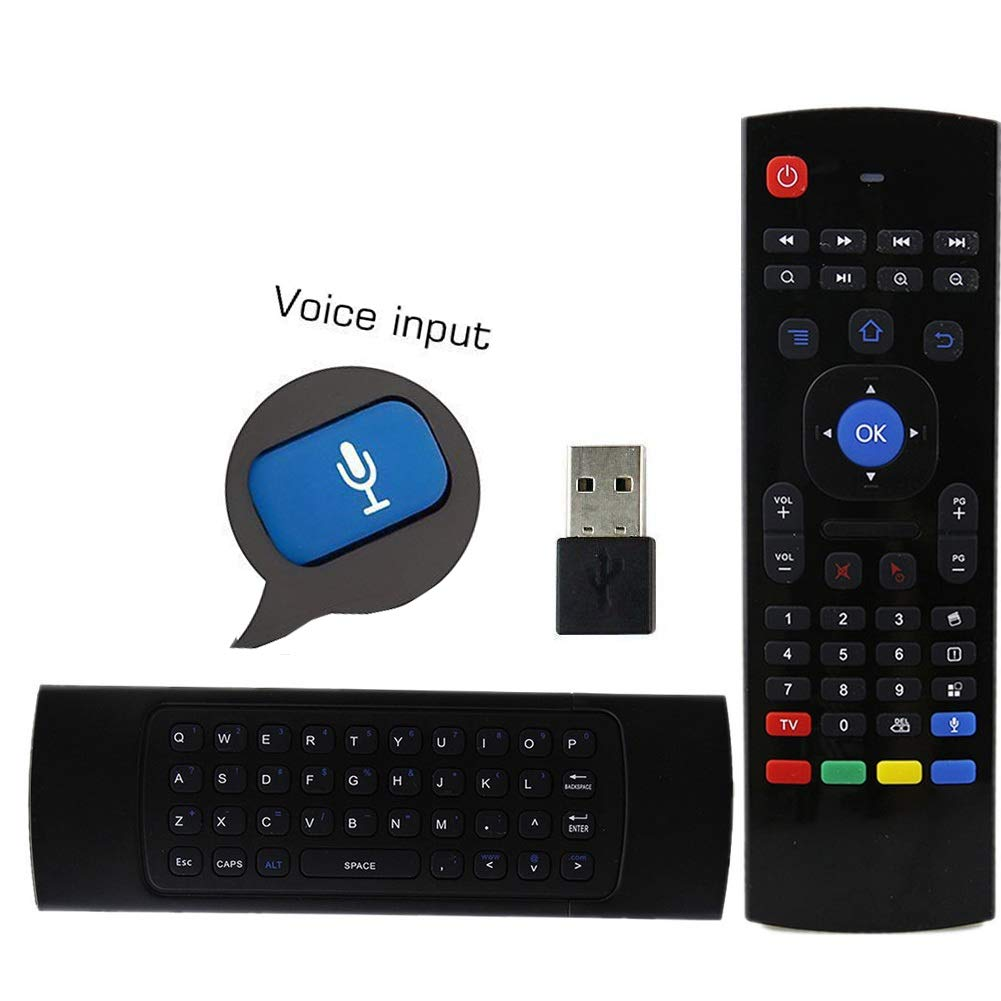 Raspberry Pi Box Air mouse Smart TV Windows HTPC Xbox Laptop PS Mac OS PC Linux 2.4GHz Fly Mouse Android Keyboard with Voice Input for TV Box IPTV Presentation
