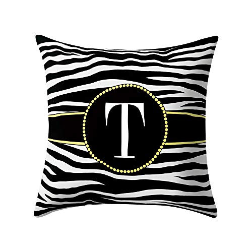 Iuhan  Zebra Striped Pillow Case Coushion Cover 18'' x 18