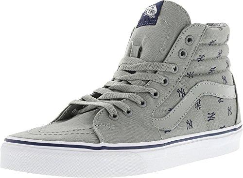 Vans Unisex Sk8-Hi MLB Skate Shoes-New York Yankees/Gry-10.5-Women/9-Men by Vans (Image #1)