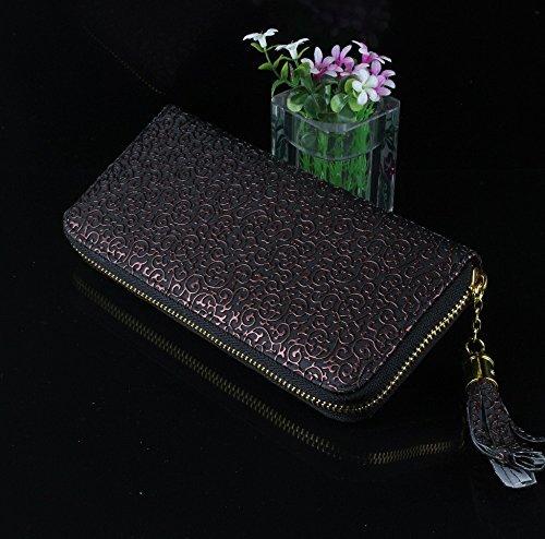 Money coming shop 2016 Women Purse New Fresh Women Wallets 2 Color Flower Leather Wallet Luxury Brand Vintage Women Clutch Wallet Lady Purse (How To Make Edible Fake Blood)