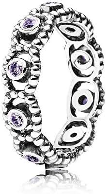 Pandora 190881acz-60 Purple Her Majesty Ring