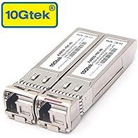 10Gtek for Ubiquiti Transceiver, a Pair of 10GBASE SFP+ Bidi Transceiver Module, 40KM