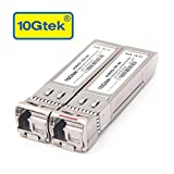 10Gtek for Cisco SFP-10G-BX40D-I/SFP-10G-BX40U-I, a Pair of 10GBASE SFP+ Bidi Transceivers, 40KM
