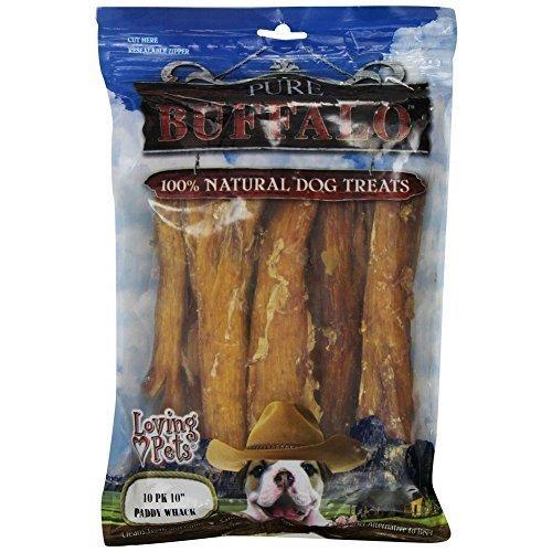 Loving Pets Pure Buffalo 10-Inch Backstrap Tendon Dog Treat, [Set of 2] by Loving Pets