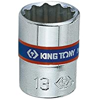 Soquete Estriado 7mm-1/4, KingTony BR, 233007M