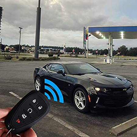 KOSMIQ Fit for Chevrolet 2017 2018 2019 Chevy Malibu Camaro Trax Traverse Sonic Cruze Volt Equinox Spark HYQ4EA 5 Buttons Smart Key Fob Cover Case Bag Shell Holder Jacket 2Pcs