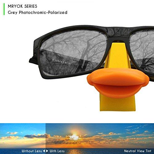 5ea404ae28c Mryok Polarized Replacement Lenses for Oakley Half Jacket XLJ - Grey  Photochromic