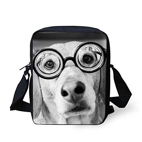 Bulldog Bandoulière Dog Grey Sac Chaqlin marron 7WZR4OO