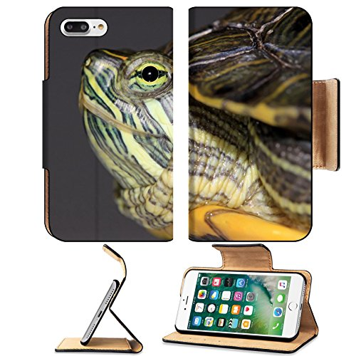 Luxlady Premium Apple iPhone 7 Plus Flip Pu Leather Wallet Case iPhone7 Plus 7114685 a red eared turtle isolated in white background