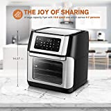CROWNFUL 9-in-1 Air Fryer Toaster