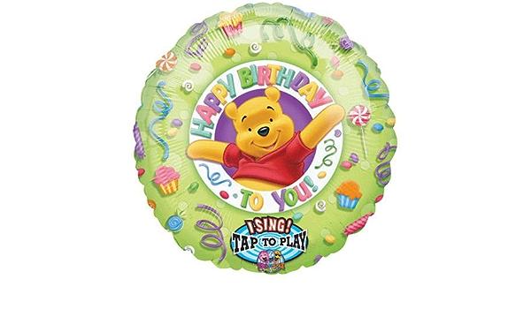 Happy Birthday M/&D Disney Winnie the Pooh Sing a Tune Balloon 28 Inches