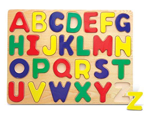 Puzzled Alphabet Raised Wooden Puzzle for Children (Puzzle Wood Alphabet)