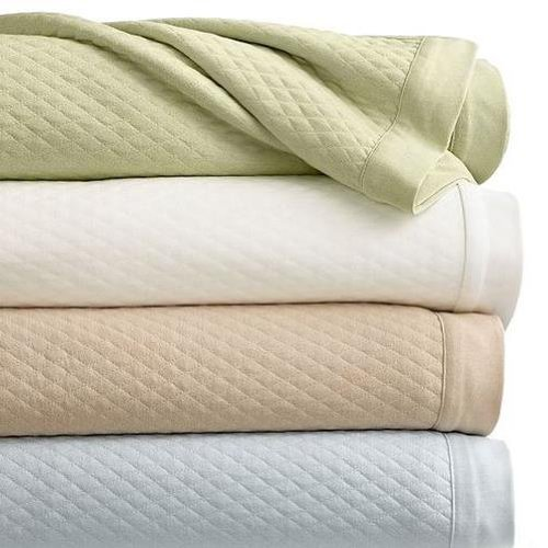 Sale!! Martha Stewart Quilted Knit Cotton King Blanket, Green