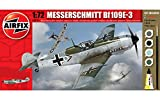 plastic model starter kit - Airfix A68205M Messerschmitt BF109E-3 1:72 Military Aircraft Small Starter Plastic Model Gift Set