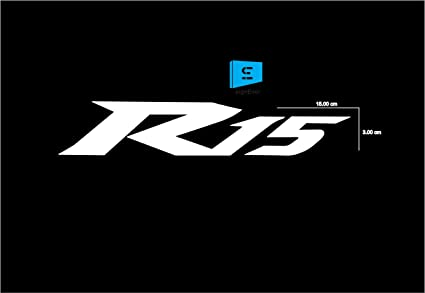 SIGN EVER Bike Stickers Yamaha R15 White Decals L x H (15 x 3) Cms Pack of 2
