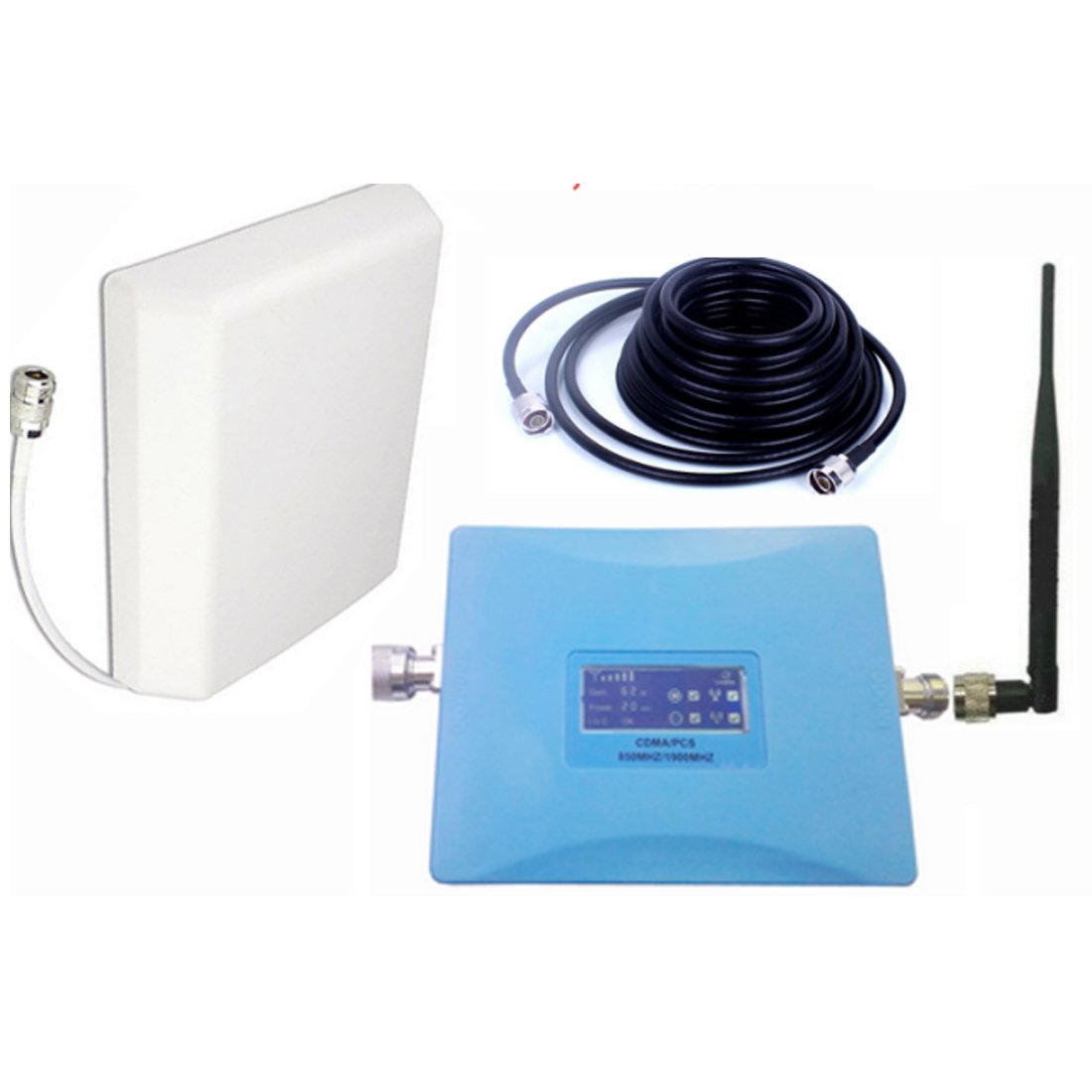 for USA 4G Signal Booster Data and Voice Repeater 850mhz CDMA Repeater PCS 1900Mhz Booster Lte Fdd Amplifier for AT&T Sprint Verizon T mobile longshen blue 850 1900