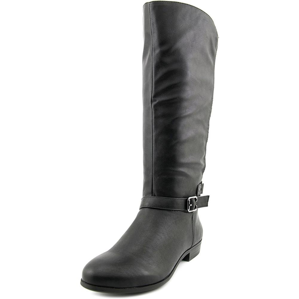 Style & Co. Womens Faee Round Toe Mid-Calf Riding Boots, Black, Size 7.5
