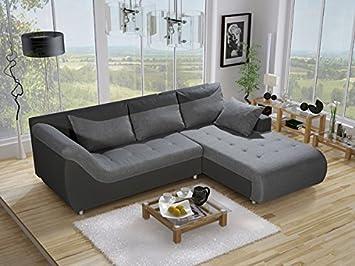bürosofas elinea groß kunstleder und stoff ecksofa mit bettkasten liegefläche wohnzimmer büro sofas
