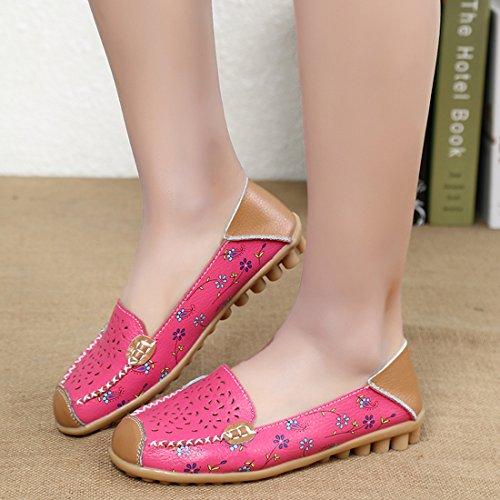 En Chaussures De Confort Mocassins Conduite Cuir suo Z Loafers Rose Casuel Femmes Plates Zqw1SUZn4