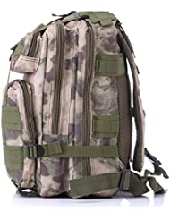 Tangmi Superior 3P Tactical Backpack 26L Compact Pack Heavy Duty Military Rucksacks Bag for Hiking Camping Trekking...