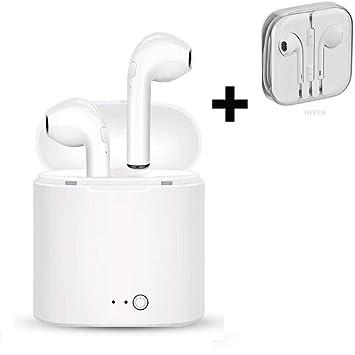 Auriculares Bluetooth, Auriculares Inalámbricos Deportivos + Finos y Pequeños, TWS Mini [++