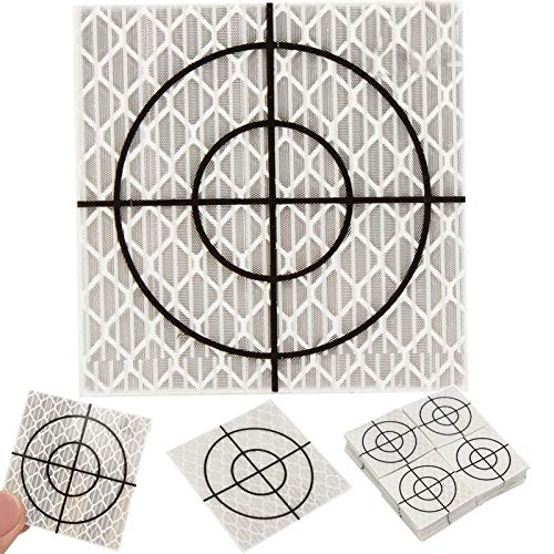 (DalaB 100pcs Reflector Sheet Reflective Tape Target Total Station 20/30/40/50/60mm - (Color: 20x20mm))