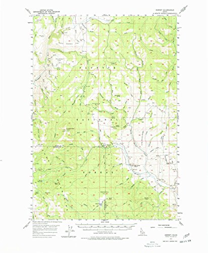 YellowMaps Hornet ID topo map, 1:62500 Scale, 15 X 15 Minute, Historical, 1957, Updated 1978, 21.8 x 18 in - Paper ()
