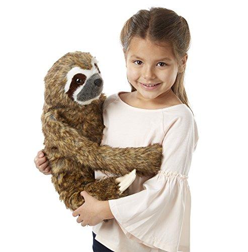 - Melissa & Doug Lifelike Plush Sloth Stuffed Animal (12W x 14.5H x 9D in)