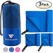 Quick Dry Towel. S M XL Microfiber Towel Set. Backpack Towel Pack. Fast Drying Towel. Great for Pool Towels, Yoga, Gym, Swim, Camp, Body, Sport, Travel. Perfect Lightweight Travel Towel Sets, exprenee