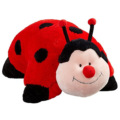 Pillow Pets Authentic Jumboz Ladybug - 30: Jumbo Folding Stuffled Animal Plush (Giant Bug)