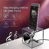 Baseus Dock Station Charger&horn amplify sound Speaker Desktop Speaker Sync Data Desktop Stand Charging Cradle Docking Station Holder for iPhone X 10/8/8Plus/7/7Plus/6/6S/6Plus/6SPlus/5S/5(Black)