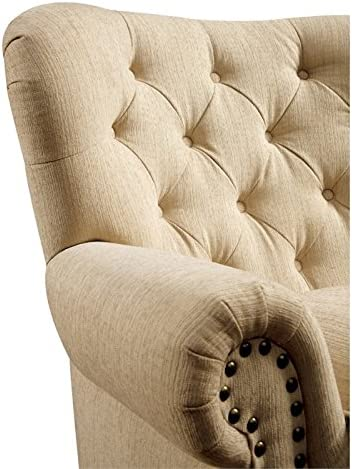 Furniture of America Villa Traditional Tufted Faux Leather Loveseat