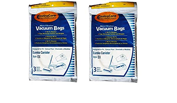 6 Eureka EX Allergy canister Vacuum Bags Excalibur Oxygen Home Cleaning System