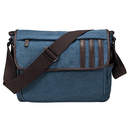 Style Canvas Messenger - Coreal Retro Style Canvas Messenger Bag School Bag Blue