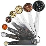 CJHFAMILY Set of 8 Stainless Steel Measuring Spoons